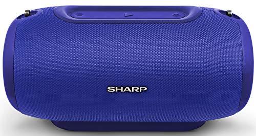 Sharp GX-BT480(BL) Altavoz Bluetooth , 40W Estéreo, 100DB+SPL Sonido Dinámico, Hasta 20 Horas De Reproducción, Recargable, Lector MicroSD, Impermeable IP54, Micrófono, Voice Assistant, Azul
