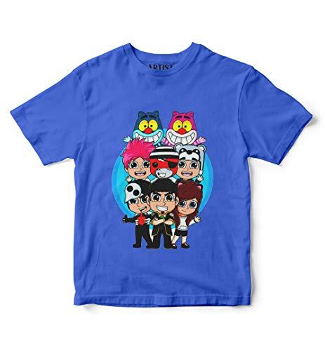 ARTIST Nuovi Colori T-Shirt Team WGF Lyon Maglietta Novita' - When Gamer's Fail - Lyon Youtuber Italia (Blu, 8/10 Anni)