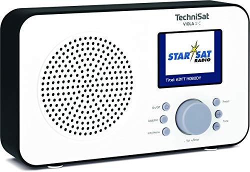 """TechniSat Viola 2 C tragbares DAB Radio (DAB+, UKW, Lautsprecher, Kopfhöreranschluss, 2,4\"""" Farbdisplay, Tastensteuerung, klein, 1 Watt RMS) weiß/schwarz"""