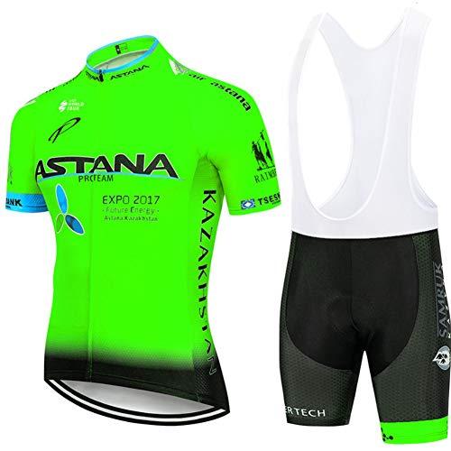 Hplights Maillot Cuissard Cyclisme Homme Tenue de Vélo Pro Vêtement VTT Manches Courtes - Combinaison de vêtements de vélo/Séchage Rapide/Respirant/Anti-Transpiration,B,M