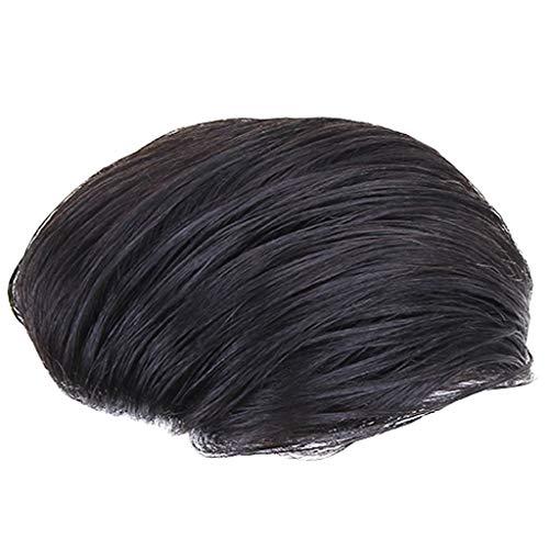 Pruik mannelijke Weaving haartransplantatie tabletten onzichtbaar naadloos mannen pruik knappe Echt haar kort haar hoofd vervangingblok (Color : C, Size : 20 * 22CM)