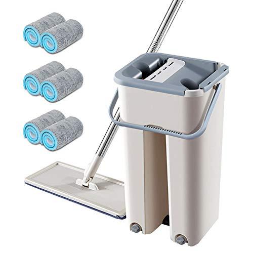 FYTVHVB handroterende mop met emmer platte squeeze spray mop home keukenvloerreinigingsgereedschap