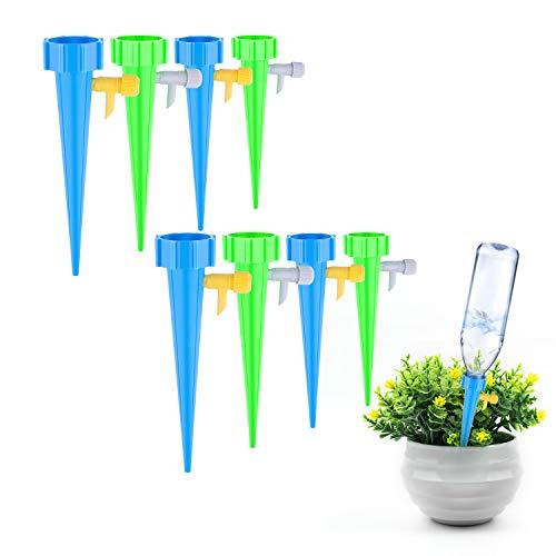 HIMETSUYA Pflanzen Bewässerung 16 Stück Automatisch Bewässerung Set Bewässerung für Topfpflanzen Pflanzen Blumen Bewässerung Wasserspender Pflanze Einstellbar mit Steuerventilschalter
