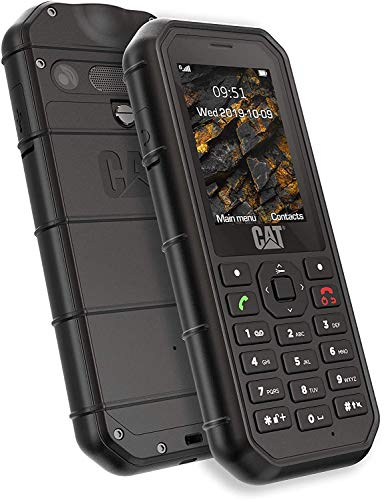 CAT B26 Dual Sim Rugged Phone (GSM Only, No CDMA) Factory Unlocked 2G GSM (Black)