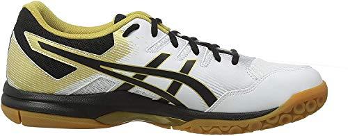 ASICS Men's Fitness Multisport Indoor Shoes, White (White/Black 100), 13 UK