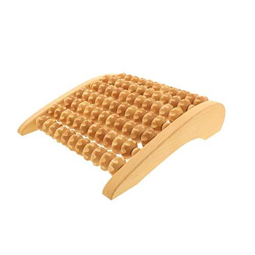 HOFMEISTER® Massage-Gerät aus Buchen-Holz, gegen Verspannungen & Schmerzen, Wellness & Entspannung für die Füße, Naturprodukt aus Europa, Fuss-Massage-Roller, 27 cm