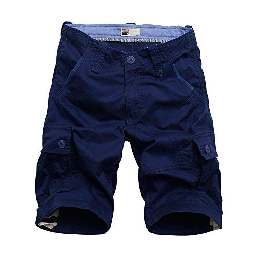 BicRad Herren Cargo Shorts Baumwolle Dunkelblau 34