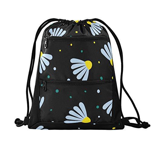 YYYJIA Bunte Cartoon-Badminton-Tasche mit Kordelzug, Polyethylen, für Damen und Mädchen, Schulrucksack für Wandern, Yoga, Fitnessstudio, Schwimmen, Reisen, Strand