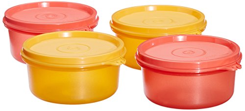 Tupperware Tropical Plastic Container Set, 230ml, Set of 4, Multicolour