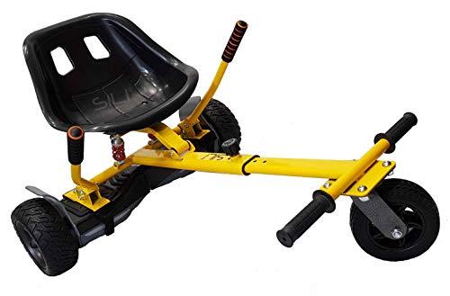 SILI® Aus Straße Suspension Kart für 2 Wheel Self Balance Scooter, verbessertes Design mit Federung unter dem Sitz (GELB)