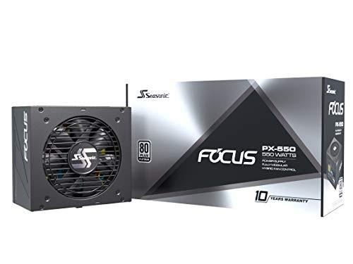 FOCUS stagionale PX-550 Alimentatore per PC completamente modulare 80PLUS Platinum 550 Watt