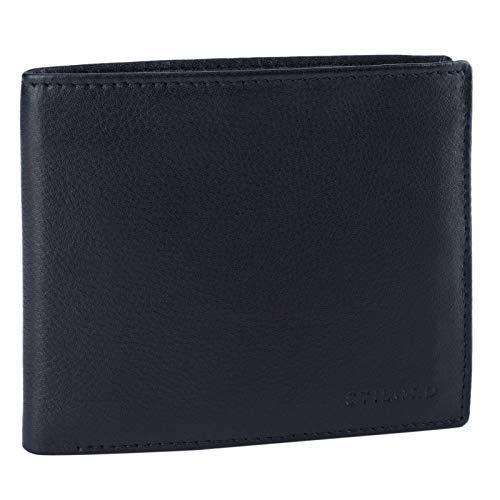 STILORD 'Lewis' Leder Portemonnaie Herren RFID Schutz Geldbörse für Männer viele Karten Fächern Brieftasche im Querformat mit Geschenkbox, Farbe:schwarz