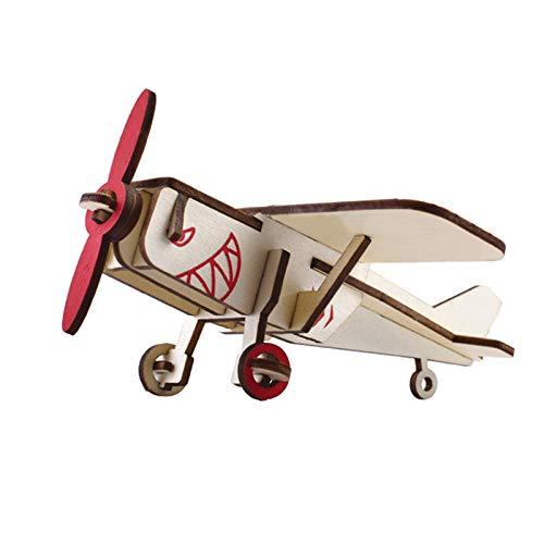 XINR Rompecabezas 3D Kits De Modelos De Aviones Rompecabezas De Ensamblaje De Bricolaje De Madera Juguetes Regalos para Niños Adolescentes