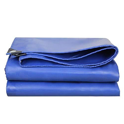 JFFFFWI Plane - Dickes Blau wasserdichte Plane Tarp Zeltschirmabdeckung für Garten, LKW, große Maschinenabdeckung 420 g/m, Dicke: 0,4 mm (Farbe: Blau, Größe: 2 x 4 m)
