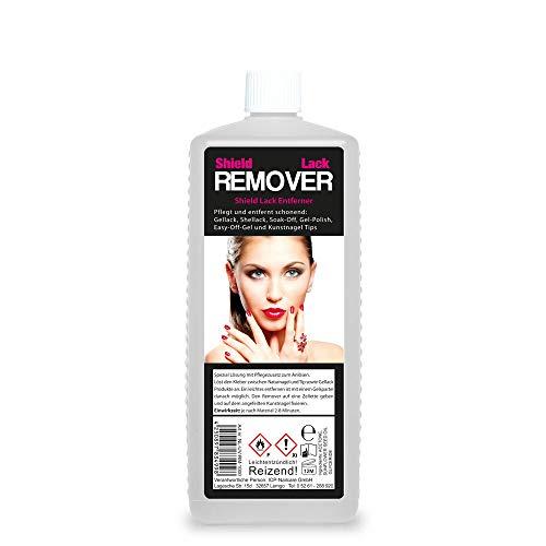 1/2 Liter (Inhalt: 500ml) REMOVER für Gellack, Shellack, Soak-Off, Gel-Polish, Easy-Off-Gel, Acrylmasse und Kunstnagel Tips mit Pflegestoffen