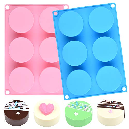 Silicone Cookie Molds Round Cylinder Chocolate Cover Mold (2, Multi)