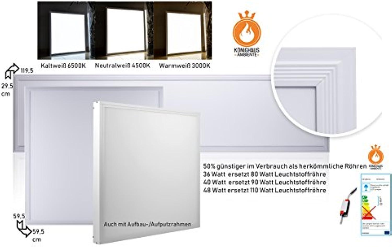 Knighaus LED Panel geprüft von TüV SüD - Deckenleuchte Wandleuchte Pendelleuchte mit Befestigungsmaterial und Rahmen inkl. LED Treiber Trafo (Energieklasse A-A++)