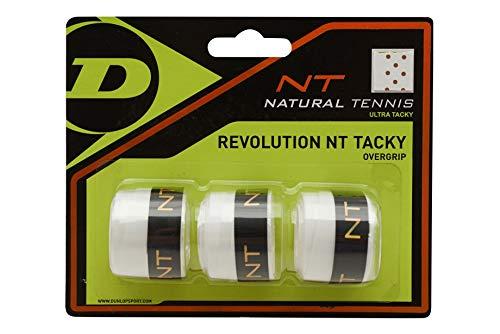 Dunlop Unisex-Adult 307086 NT Tacky Tennis Overgrip 3 Stück weiß, One Size