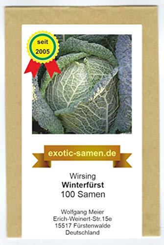 Winterwirsingkohl - Winterfürst -100 Samen