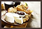 Cheese, Fresh Bread, Marmalade with Red Wine 9023014 (36x24 Giclee Art Print, Gallery Framed, Espresso Wood)