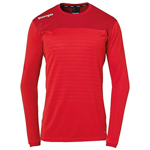 Kempa Kinder Emotion 2.0 Langarmshirt Oberbekleidung, rot/Chilirot, 164