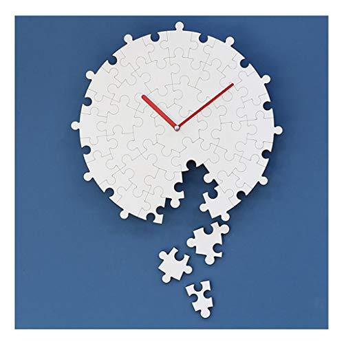 Xz max @Wandklok Wandklok Niet tikken Batterij Bediende Stille Analoge Jigsaw Puzzel Modern Decoratief Creatief Ontwerp Woonkamer Slaapkamer Quartz Klokken