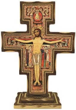 Max 65% OFF San Damiano Franciscan 12 Standing Italian Financial sales sale Inch Crucifix
