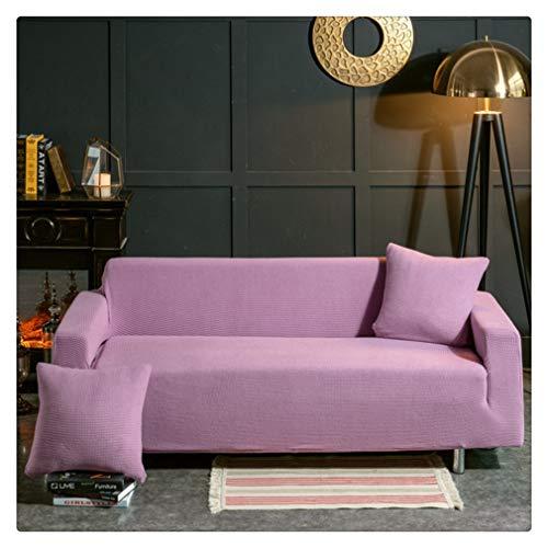 GODGETS Fundas de Sofás Elástica de Punto Universal Protector del sofá Se Adapta a Toda la Tela Cubierta Cubierta de Muebles Elegante y Duradera para Sofá Decorativa,Púrpura Claro,1 Plazas(90-140CM)