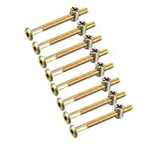 LNIEGE 8 SetsM6x70mm Mobili Bullone Dado Set, Socket Vite Esagonale 58 Millimetri Lunghezz...