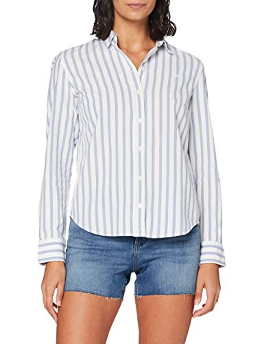 Levi\'s The Classic BW Shirt Camisa, Rubellite Colony Blue, S para Mujer