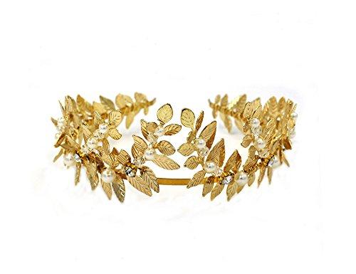 La Diosa griega/romana Oro Leaf diadema Tiara Novia – boda