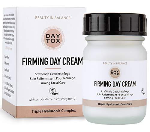 DAYTOX - Firming Day Cream - Straffende Tagescreme mit Triple Hyaluron - Vegan, ohne Farbstoffe, silikonfrei und parabenfrei - 50 ml