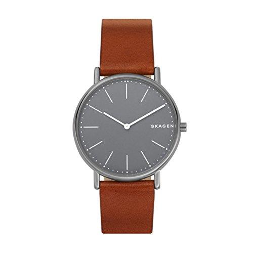 Skagen Herren Analog Quarz Uhr mit Leder Armband SKW6429