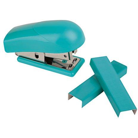 Office Depot Brand Mini Stapler, Aqua