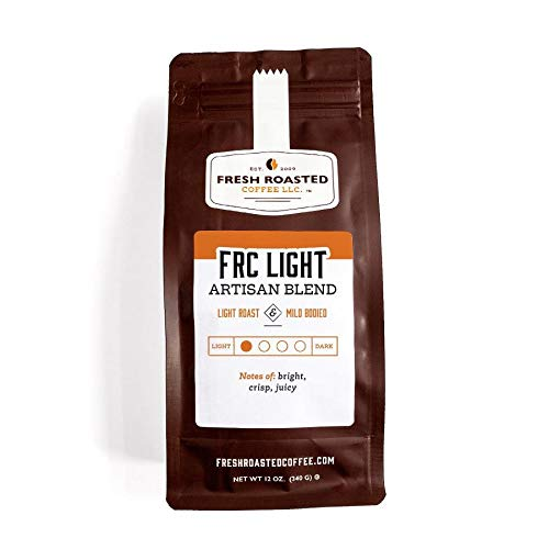Fresh Roasted Coffee LLC, Light Roast Blend Coffee, Artisan Blend, Whole Bean, 12 Ounce Bag