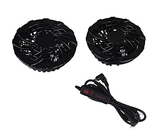 XUNLAN Durable hogar portátil USB almohadilla de enfriamiento radiador ventilador aire acondicionado ropa accesorios especiales dos ventiladores casa #30 usable (color: negro)