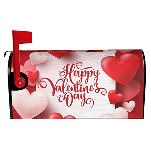 Dujiea Romantic Valentines Day Mailbox Cover Mailbox Wraps, Waterproof Mailbox Covers Magnetic Post Box Cover Standard Size 21'(L) X 18'(W) Garden Yard Outside Farmhouse Home Decor