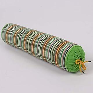 YYBF Almohada de Trigo sarraceno Gruesa de Rayas Almohada de Trigo sarraceno Caramelo Caramelo Caramelo Almohada cilíndrica se Puede Desmontar 1 jin Verde