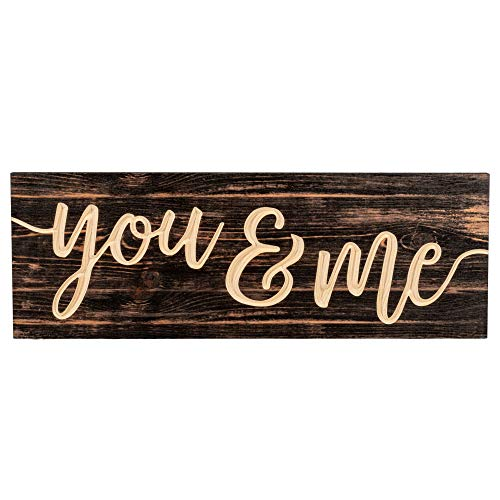 """Rustic Wood Box Sign, The Greatest Thing You'll Ever Learn is Just to Love & Be Loved in Return. Real Solid Wood Box Plaque for Rustic Home Decor, Farmhouse Home Table Decor with Love Sign. 4""""x5"""""""