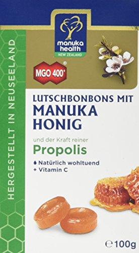 Manuka Health - Lutschbonbons mit Propolis und Manuka Honig MGO 400+ (100 g) - 100% Pur aus Neuseeland mit zertifiziertem Methylglyoxal Gehalt