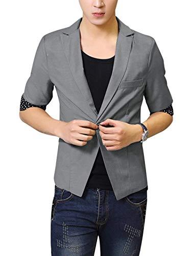 Adelina Blazer Revers halflange gestippelde blazer korte mantel detail jongens herenmode vrijetijdssakko's lange mouwen slim fit Nner