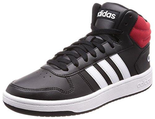 adidas Hoops 2.0 Mid, Zapatos de Baloncesto para Hombre, Negro (Cblack/Ftwwht/Scarle Cblack/Ftwwht/Scarle), 44 2/3 EU