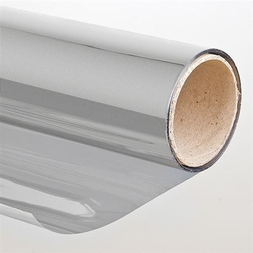:Sonnenschutzfolie Selbstklebend Silber 152 x 300 cm - Spiegelfolie Spiegeleffekt Schutzfolie