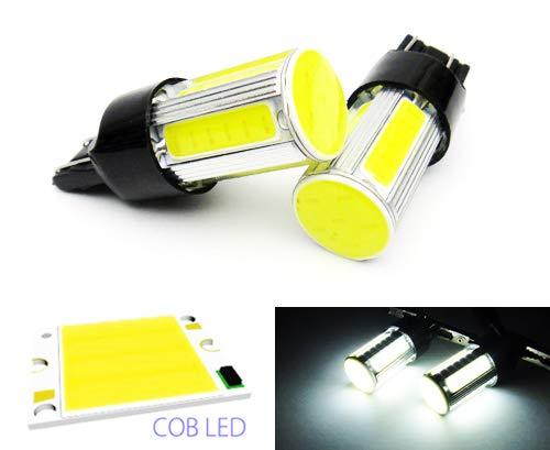2 x Blanc 582 W21 W 580 W21/5 W ampoule LED COB Feu de position latéral Indicateur de signal Queue Arrêt inversée lumière du jour DRL
