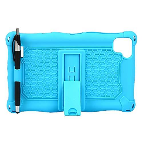 Beauneo Funda para P80 P80X P80H Funda de Silicona AnticaíDa para Tableta de 8 Pulgadas para T290 / T295 / T297 (Azul Claro)