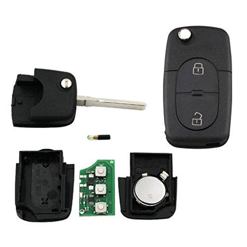 Shiwaki Llave Remota ID48 Para El Automóvil Flip ID48 + Batería Para Golf MK4 Passat