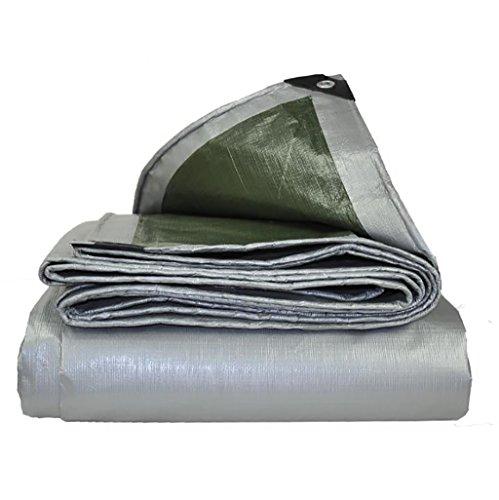 HG Tarps zeildoek, verzilverd, PE-dekzeil, waterdicht, zelfklevend voor stoomreiniger, dikte 0,4 mm, 180 g/m2, keuze uit 19
