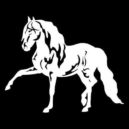 UYEDSR Pegatinas para coche, 2 unidades, diseño de caballo andaluz, 15,5 x 12,5 cm
