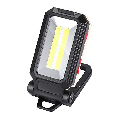 Baustrahler akku led werkstattlampe COB LED arbeitsleuchte arbeitslampe arbeitsstrahler Akkulampe magnet lampe handleuchte led strahler 4 modi USB aufladbar für Stromausfällen, Zelt, Camping, Notfall
