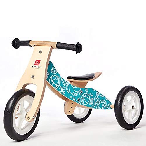 SHARESUN 2 In 1 Kids driewieler voor 1-3 Jaar Oude Jongens Meisjes, Kids Trike Peuter Tricycles Balance Bike Houten Trike, Kind 3 Wielen Kinderen Wandelen driewieler